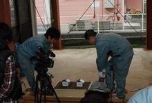 液状化実験撮影